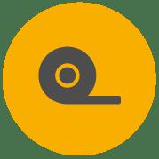 Ikon for Pro tape, der indikerer en taperulle
