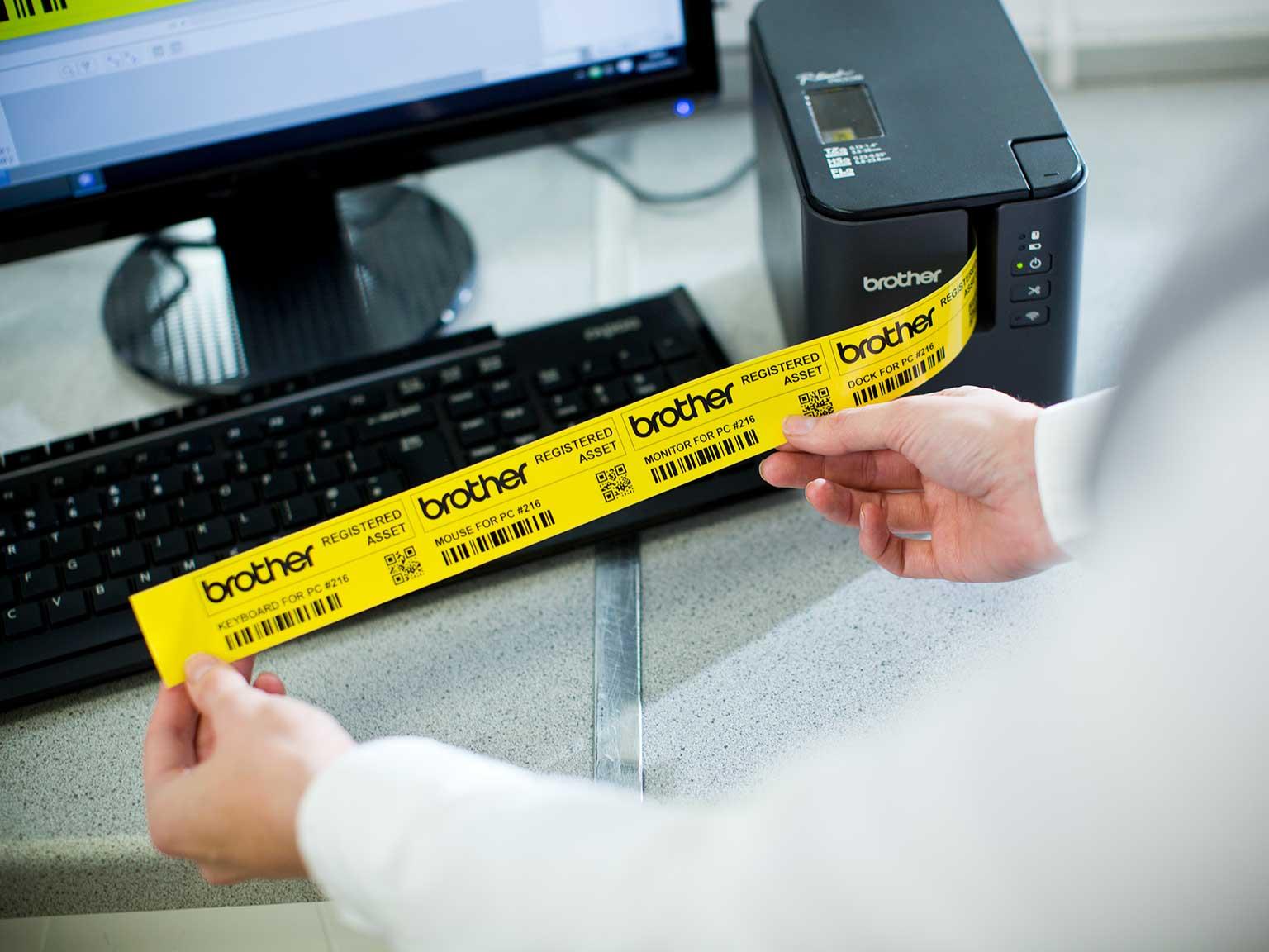 Brother PT-P900 series durable label printer