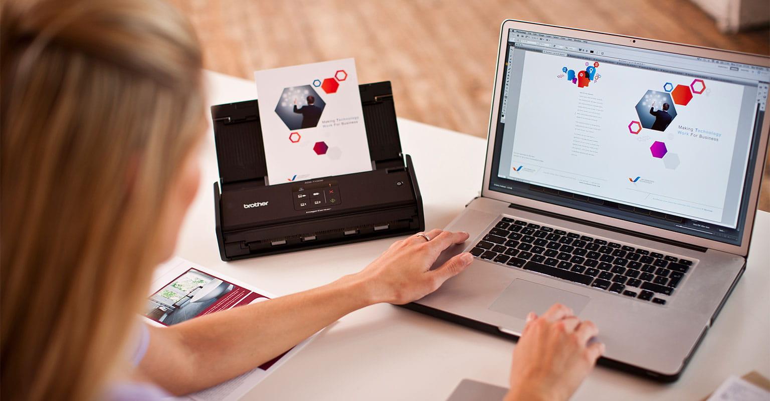 Kunde bruger Brother scanner med ABBYY software
