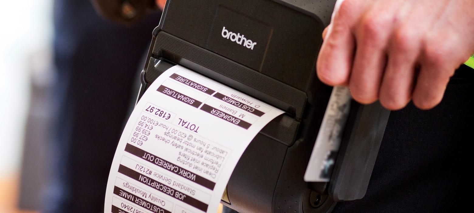 Transportabel printer fra Brother