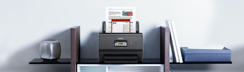 ADS-2800W scanner på reol