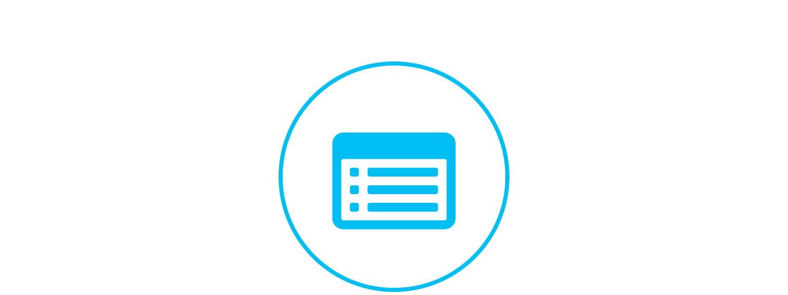 registrér dine detaljer ikon