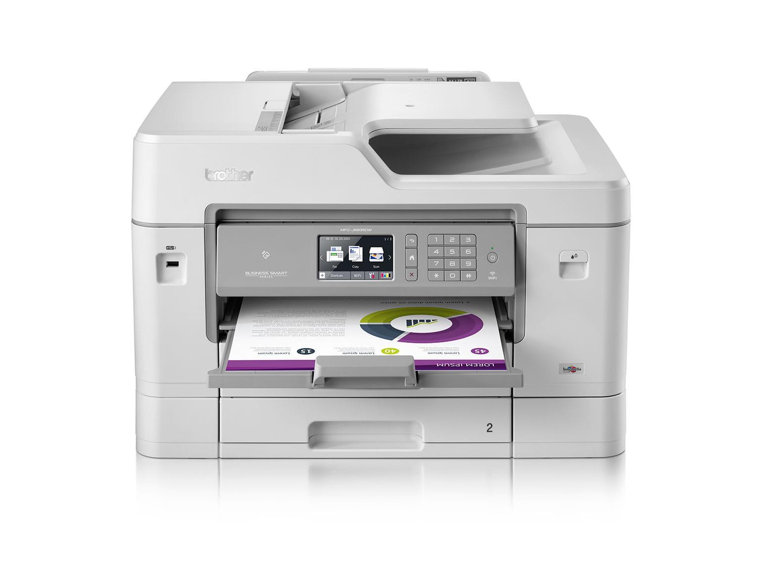 inkjet printer med papir