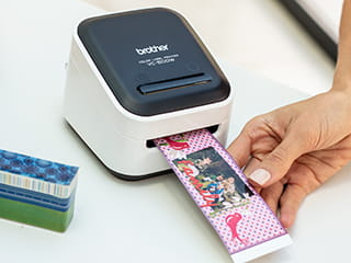 Full colour label printing on the Brother Design and Craft printer, that doesn't require ink