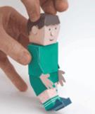 hånd holder figur