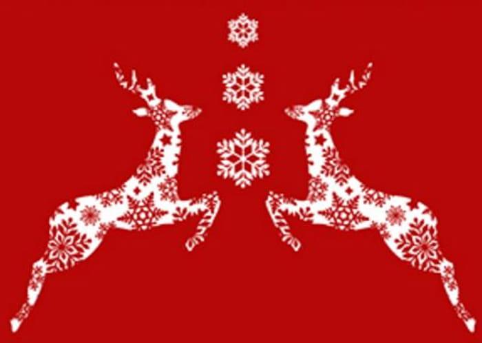 rensdyr julekort