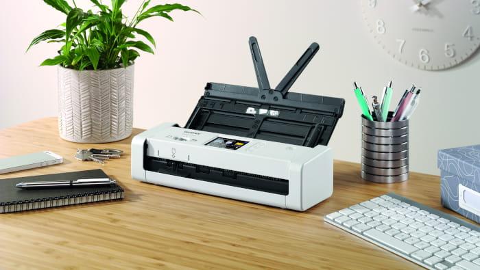 ADS-1700W scanner placed on desk