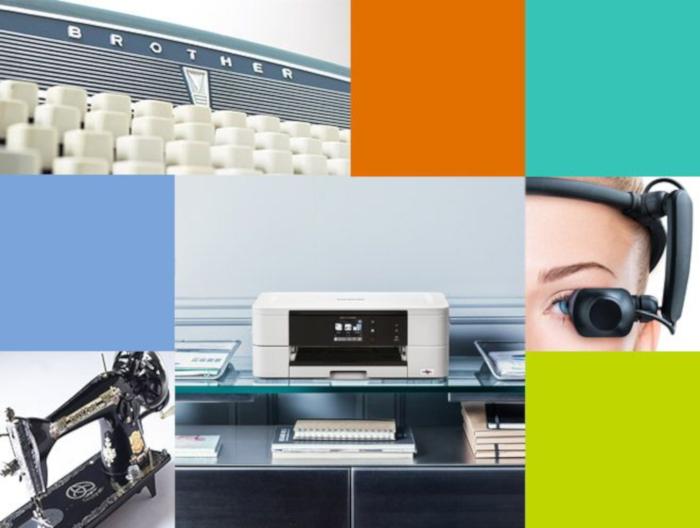 Mixed photo with type writer, sewing machine, printer etc.