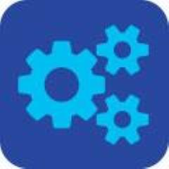 Blue gears icon