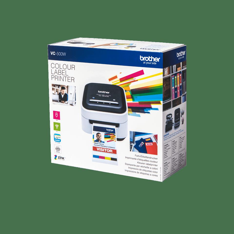 VC-500W - labelprinter, der printer labels i  fuld farve 4
