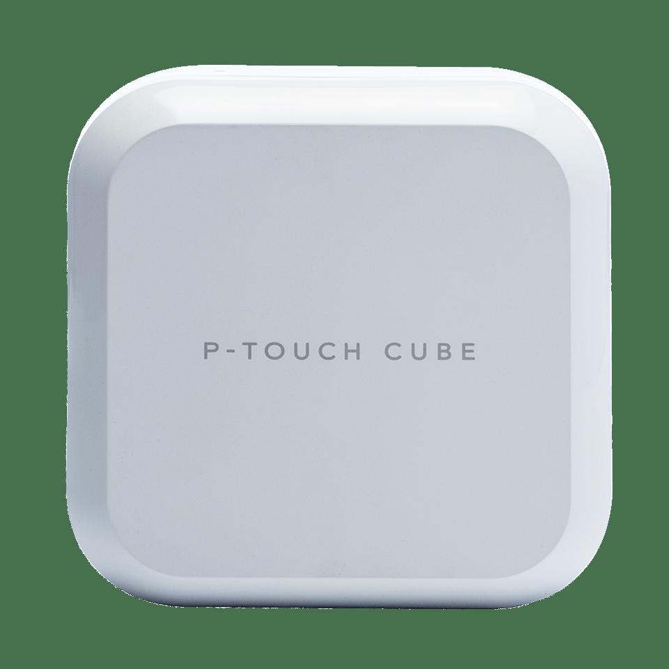 P-touch CUBE Plus i hvid (PT-P710BTH) - genopladelig labelprinter med Bluetooth