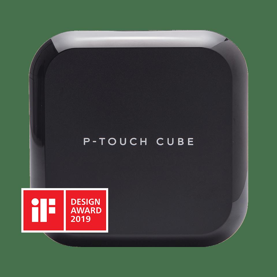 P-touch CUBE Plus i sort (PT-P710BT) - genopladelig labelprinter med Bluetooth 3