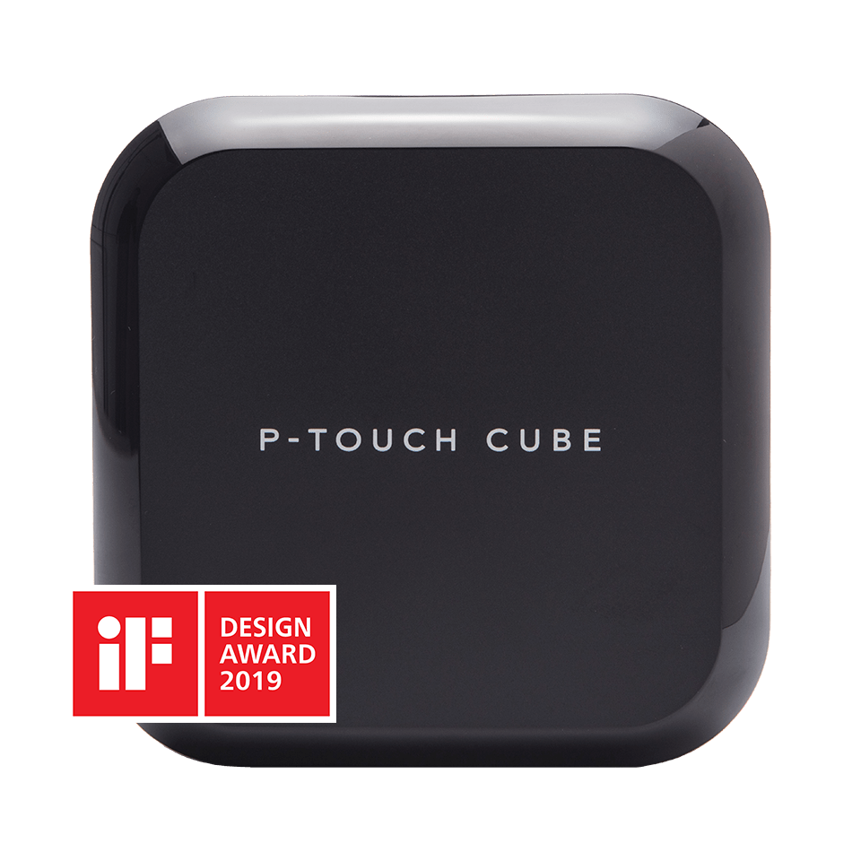 P-touch CUBE Plus genopladelig labelprinter med Bluetooth 3