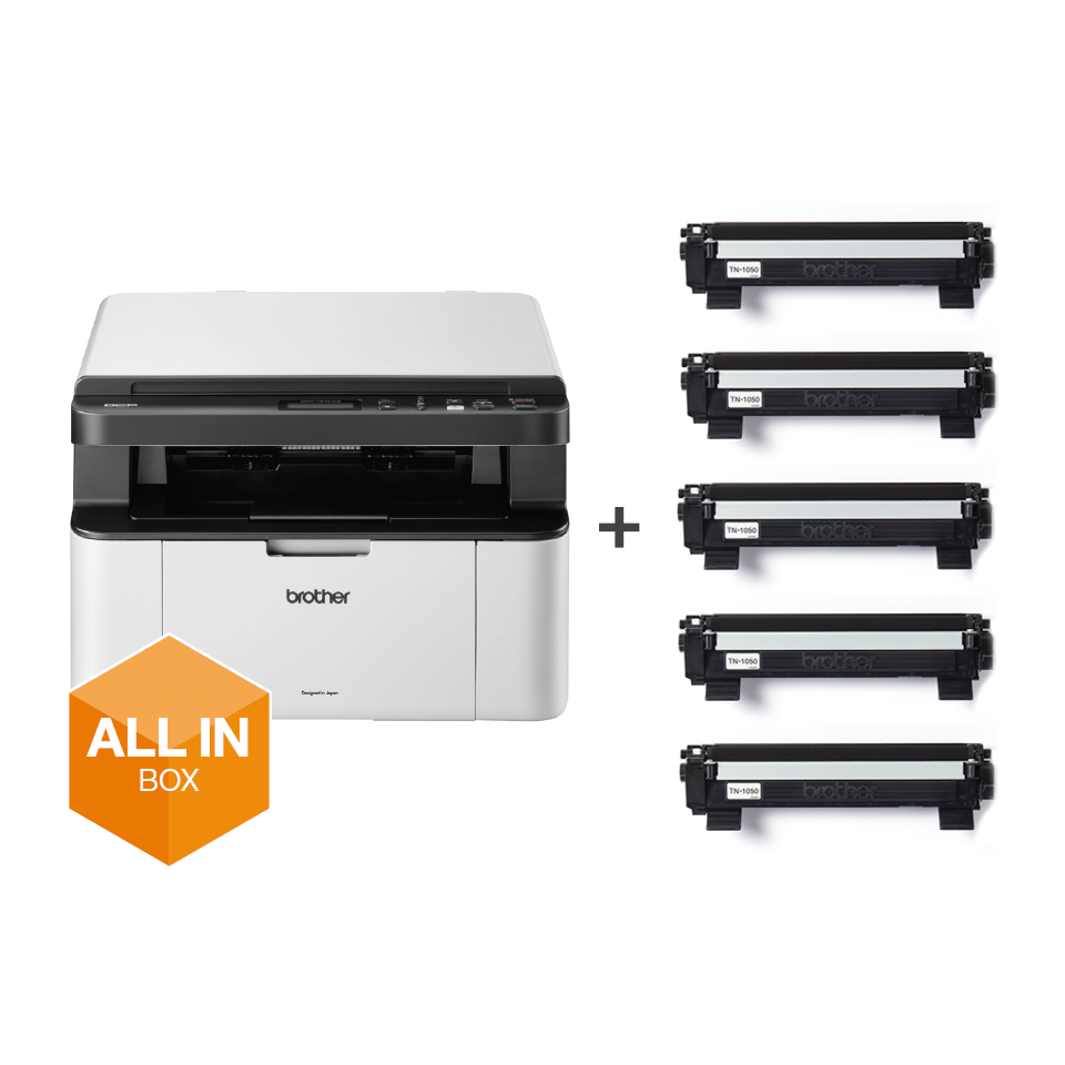 Alt-i-én s/h-laserprinter - DCP-1610WVB All In Box-pakke