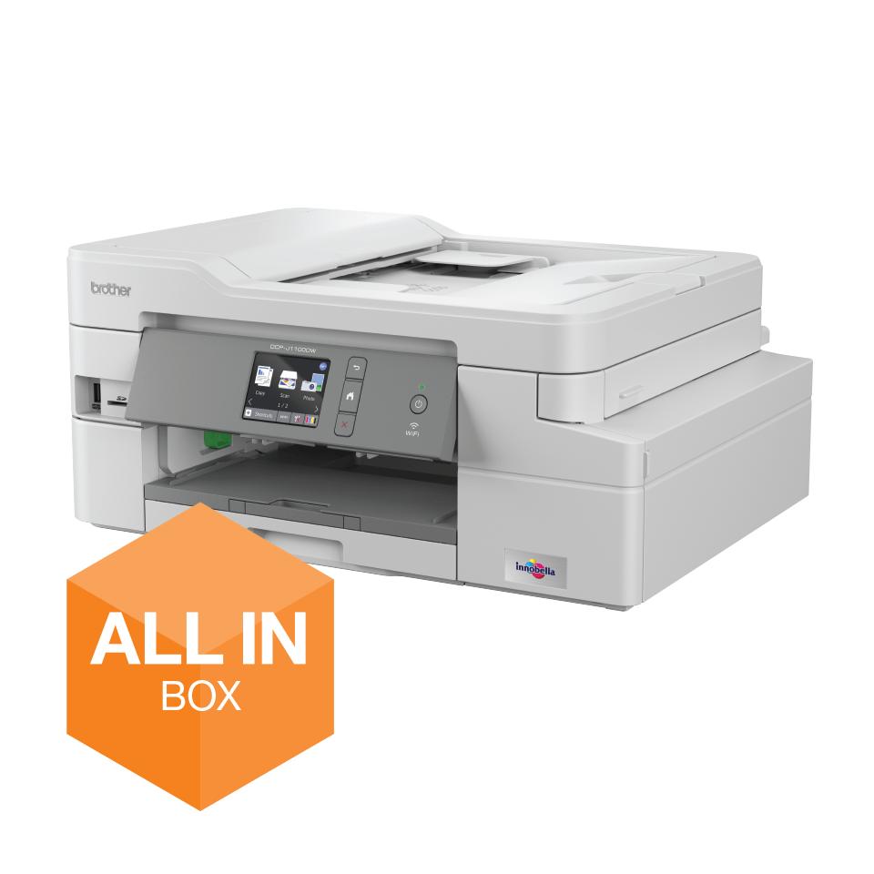 DCP-J1100DW - trådløs alt-i-én-inkjetprinter, All In Box-pakke