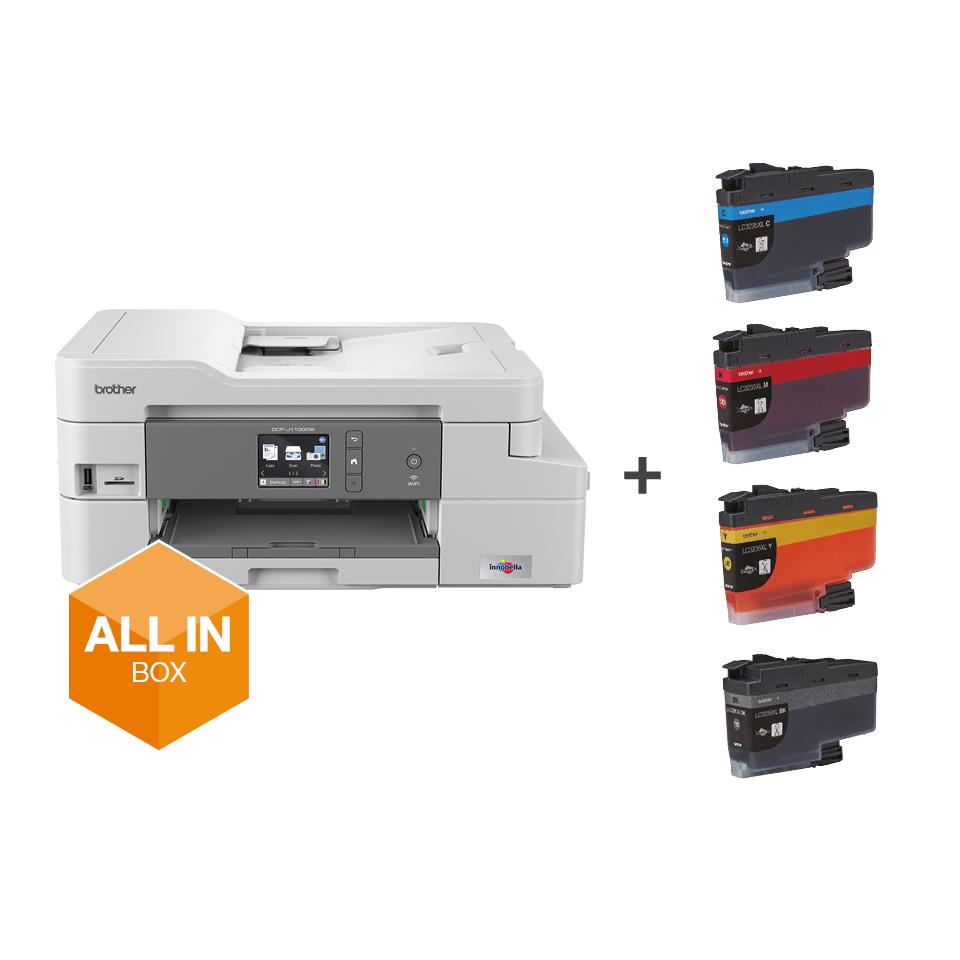 Trådløs alt-i-én inkjetprinter DCP-J1100DW All In Box pakke