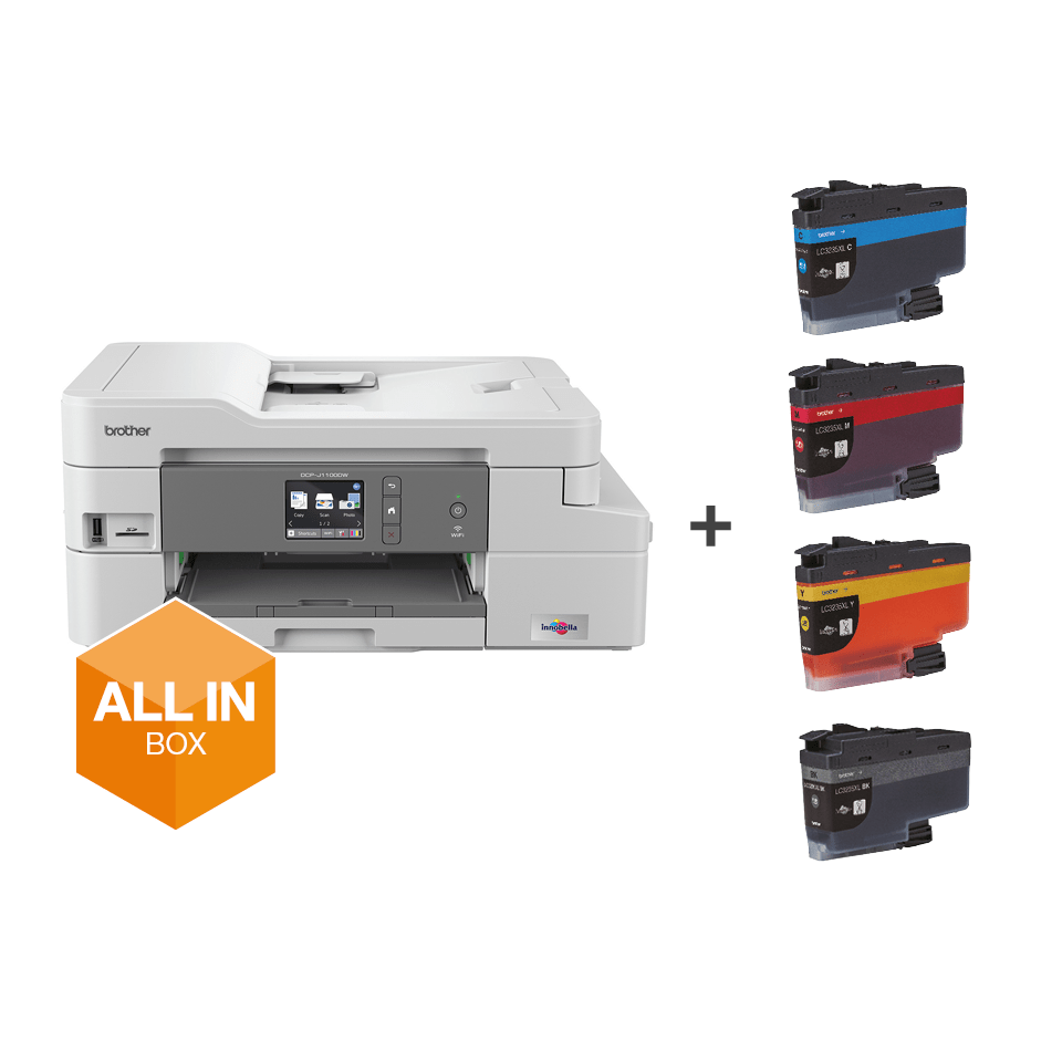 DCP-J1100DW - trådløs alt-i-én-inkjetprinter, All In Box-pakke 7