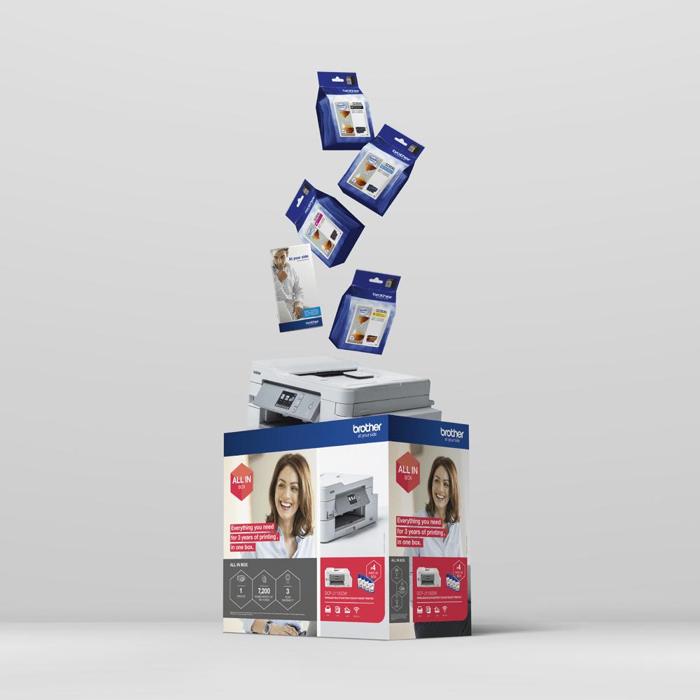 DCP-J1100DW - trådløs alt-i-én-inkjetprinter, All In Box-pakke 8