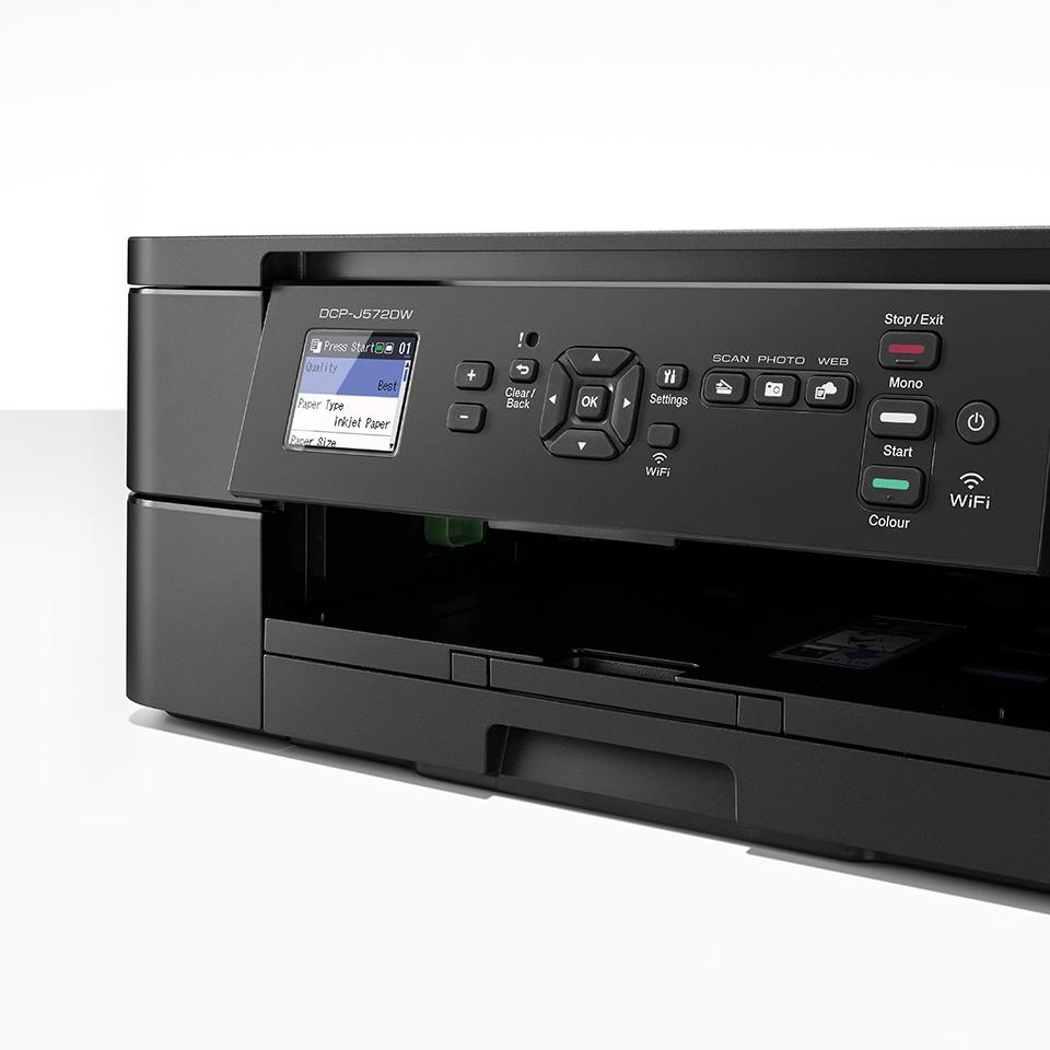 DCP-J572DW er en trådløs alt-i-én inkjetprinter 6