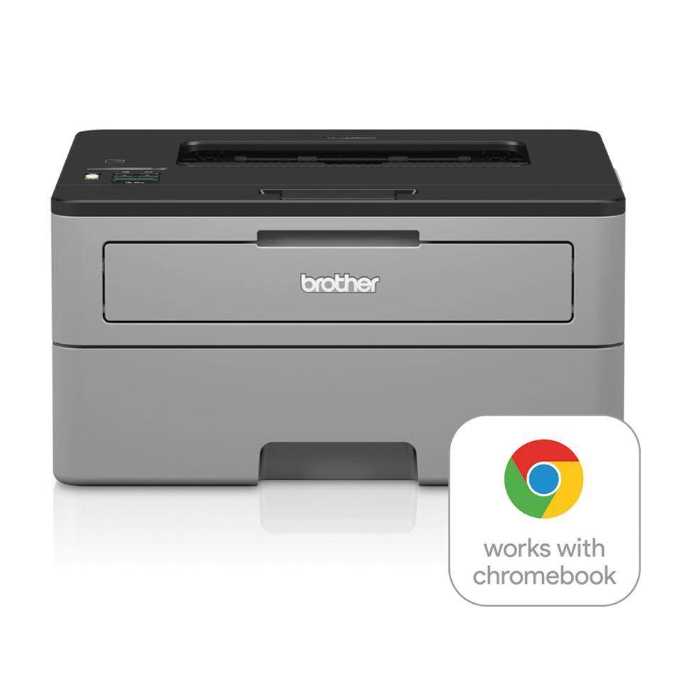 Brother HL-L2350DW er en kompakt, trådløs, sort/hvid laserprinter