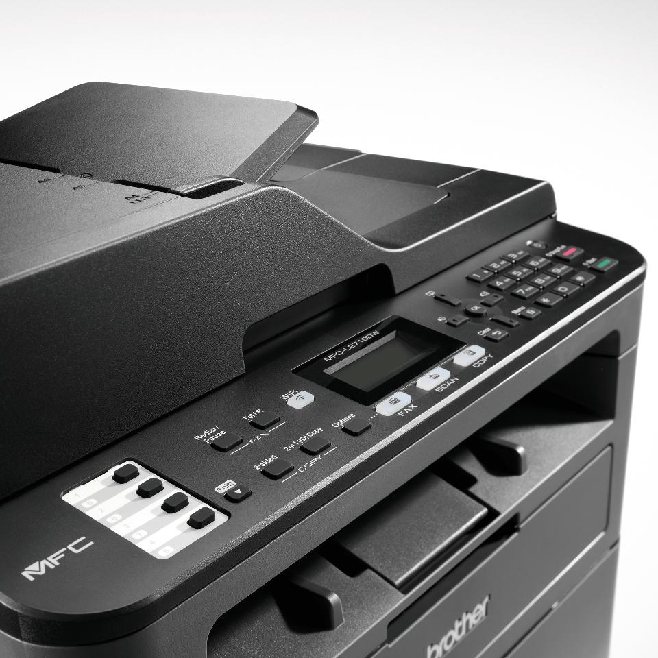 Brother MFC-L2710DW - kompakt trådløs alt-i-én sort/hvid laserprinter 5
