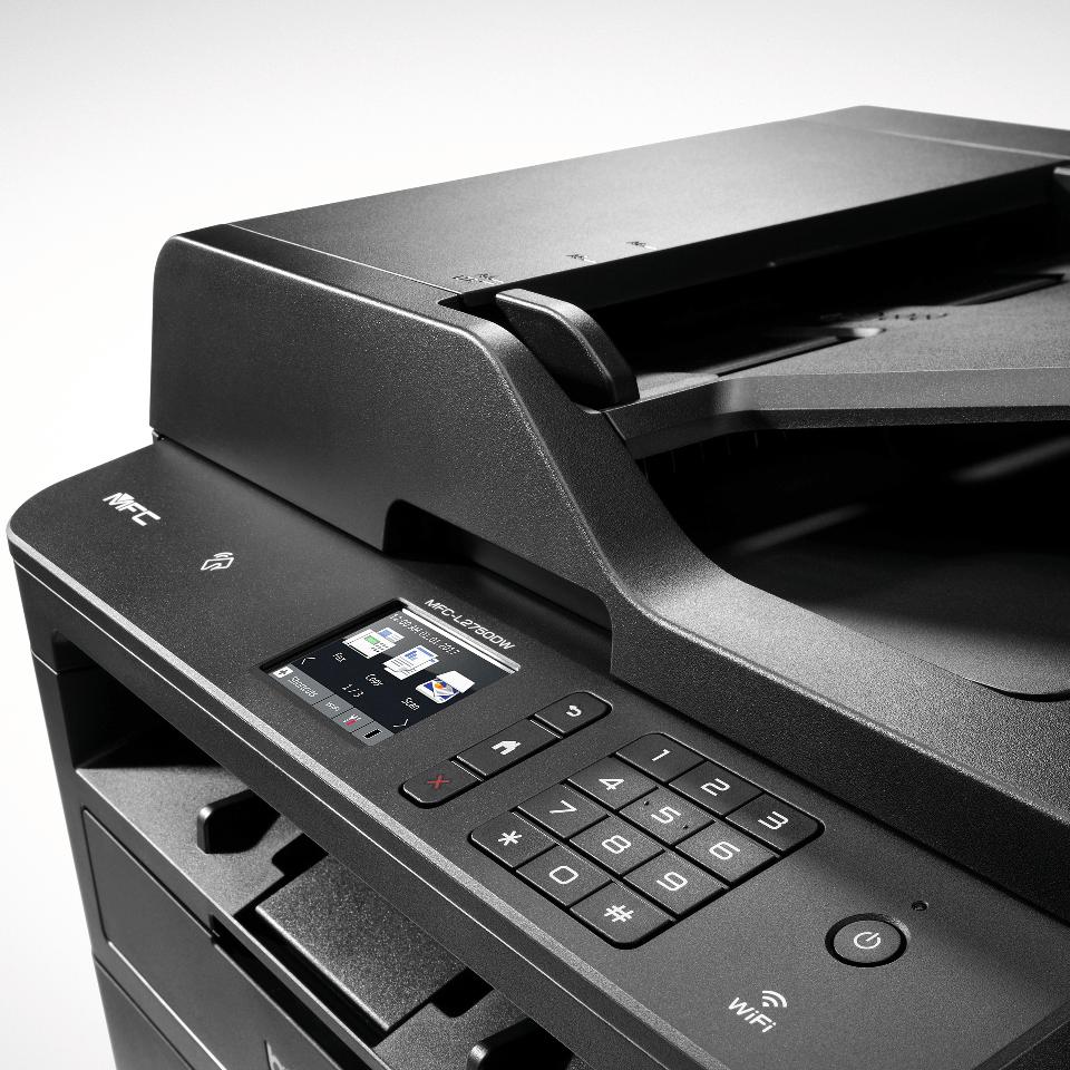 Brother MFC-L2750DW - kompakt alt-i-én-laserprinter med trådløst og kablet netkort 4