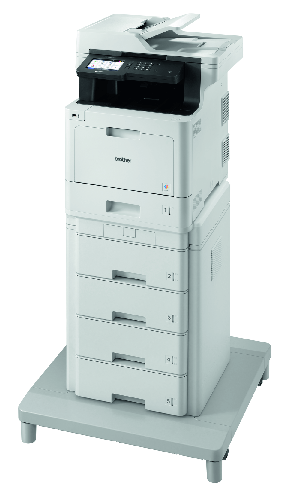 MFC-L8900CDWMT er en professionel alt-i-én laserprinter med dobbeltsidet print og trådløst netkort. 2