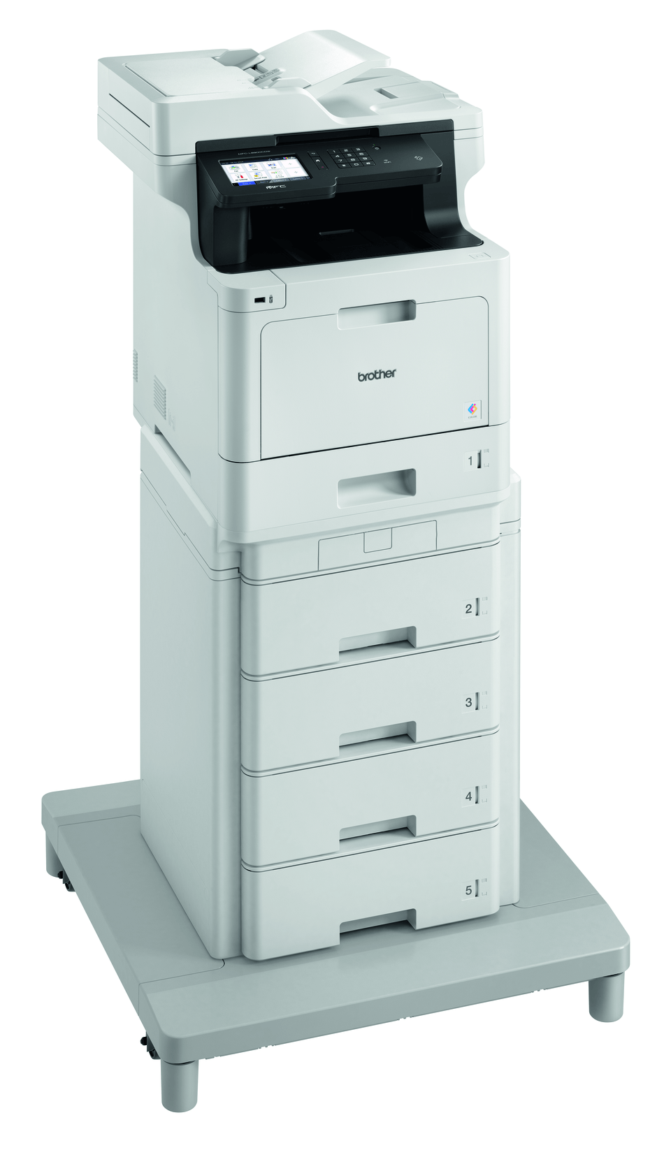 MFC-L8900CDWMT er en professionel alt-i-én laserprinter med dobbeltsidet print og trådløst netkort. 3