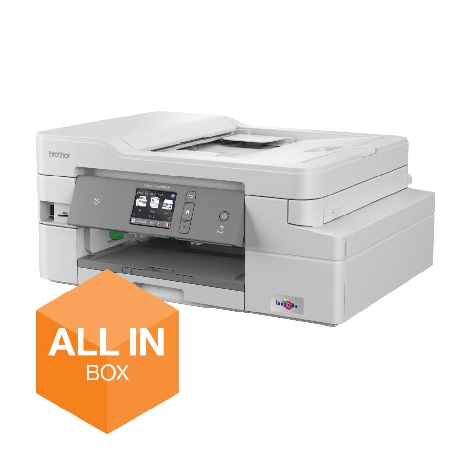 MFC-J1300DW - trådløs alt-i-én-inkjetprinter med fax, All In Box-pakke