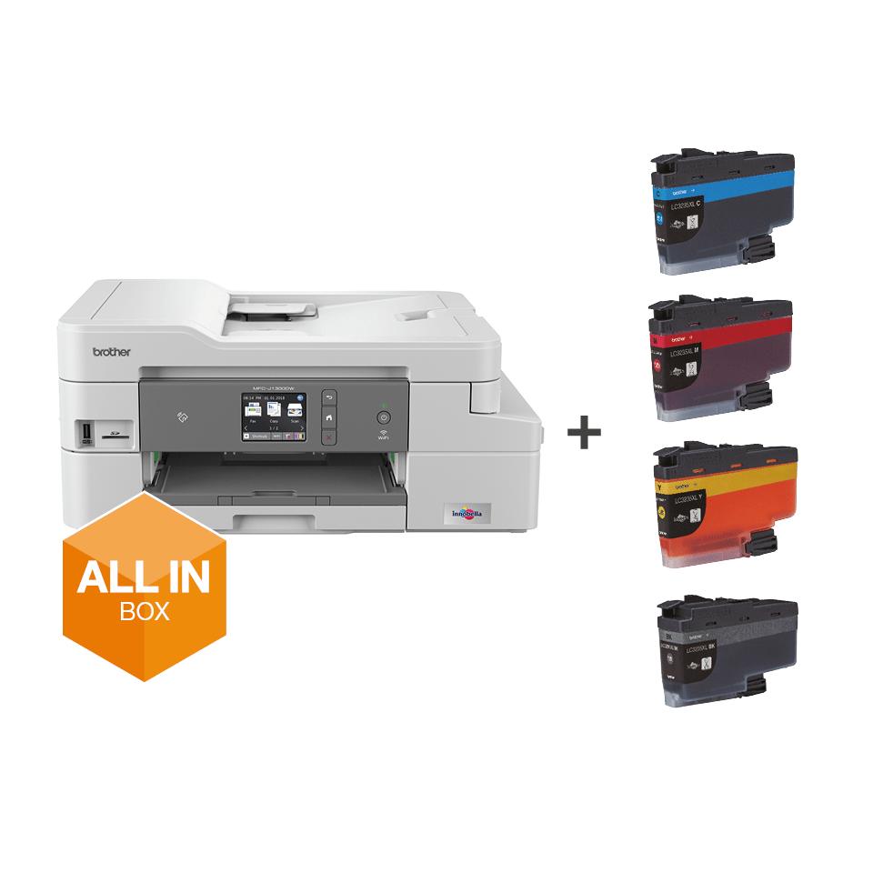 Trådløs alt-i-én inkjetprinter med fax MFC-J1300DW - All In Box pakke