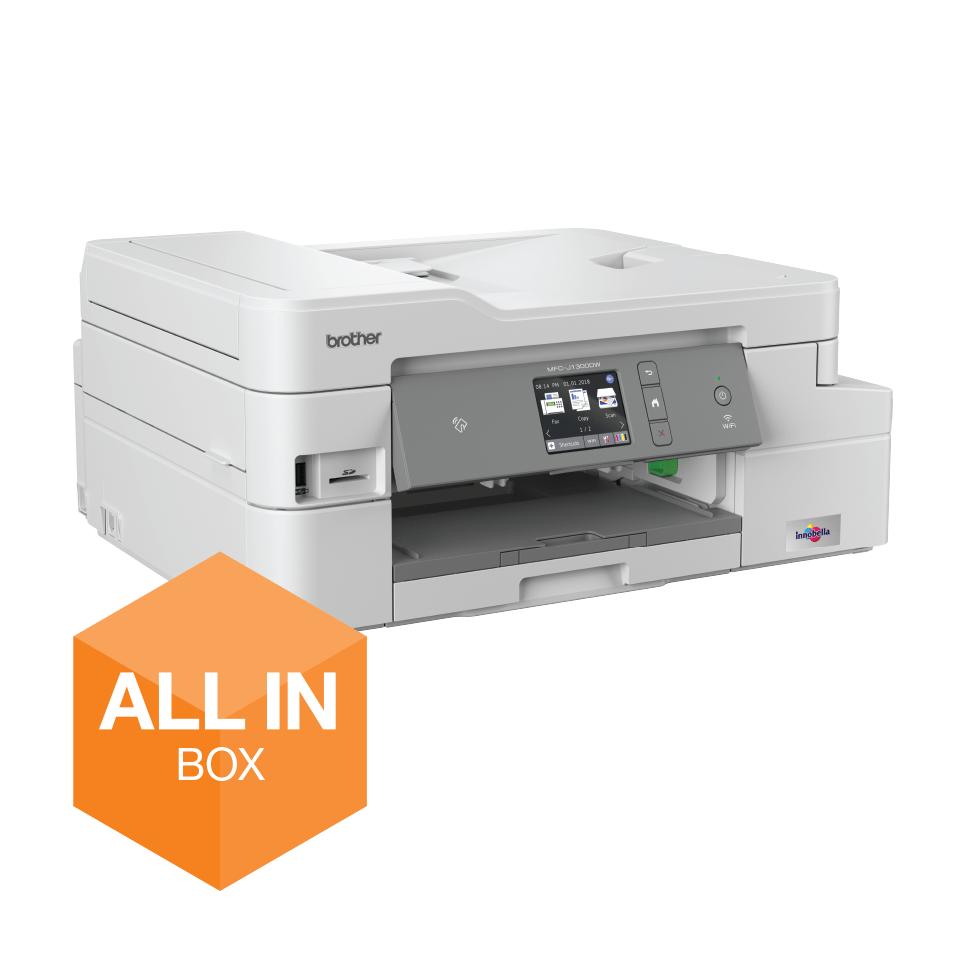 MFC-J1300DW - trådløs alt-i-én-inkjetprinter med fax, All In Box-pakke 2