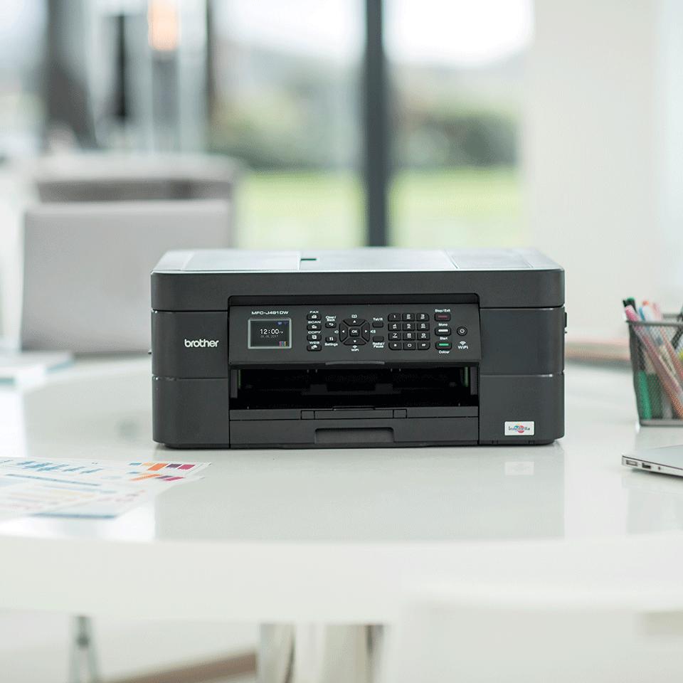MFC-J491DW er en alt-i-én inkjetprinter med trådløst netkort 3