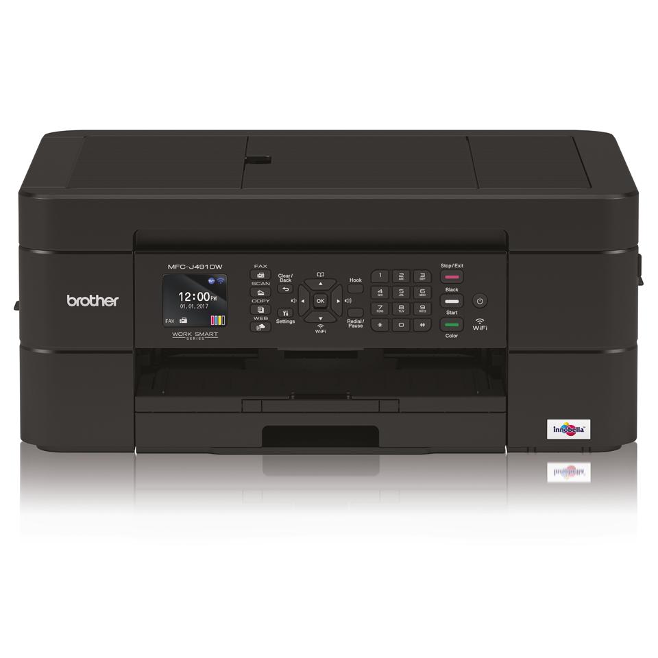 MFC-J491DW er en alt-i-én inkjetprinter med trådløst netkort