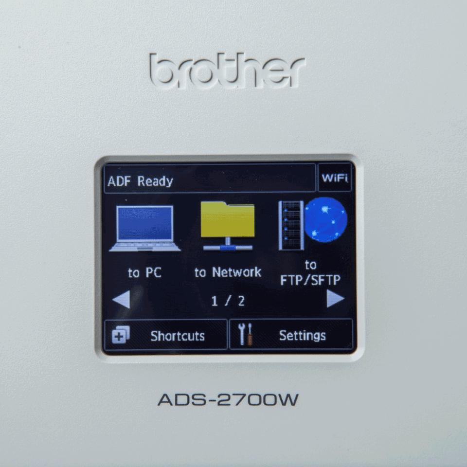 Brother ADS-2700W skrivebordsscanner med trådløst netværk 7