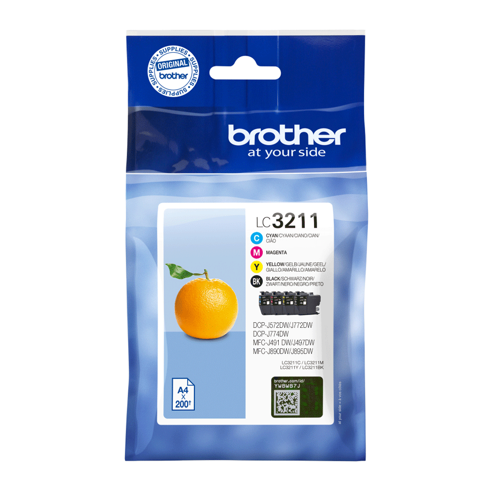 Original Brother LC3211VAL sampak blækpatroner