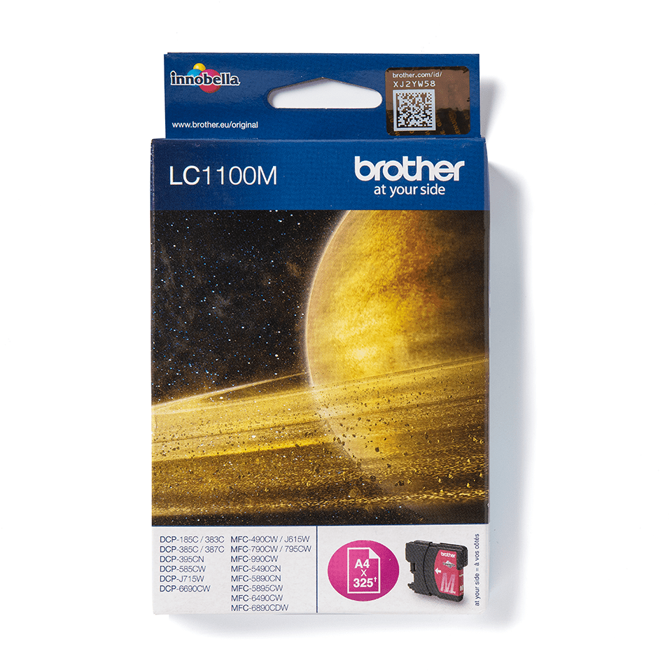 Original Brother LC1100M blækpatron – magenta