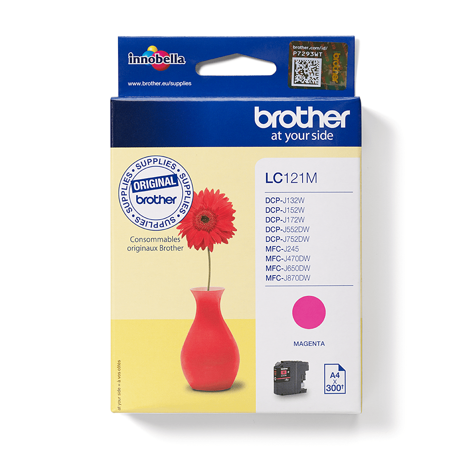 Original Brother LC121M blækpatron – magenta