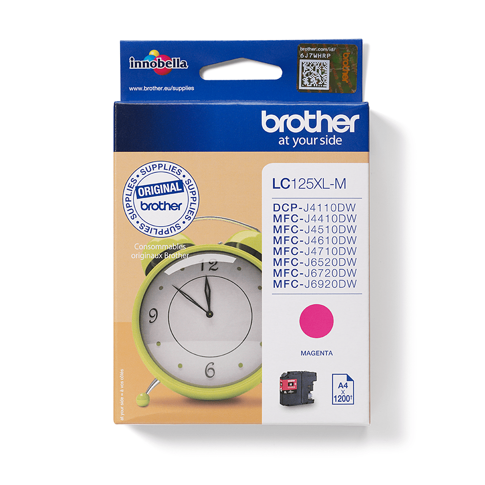 Original Brother LC125XLM blækpatron - Magenta