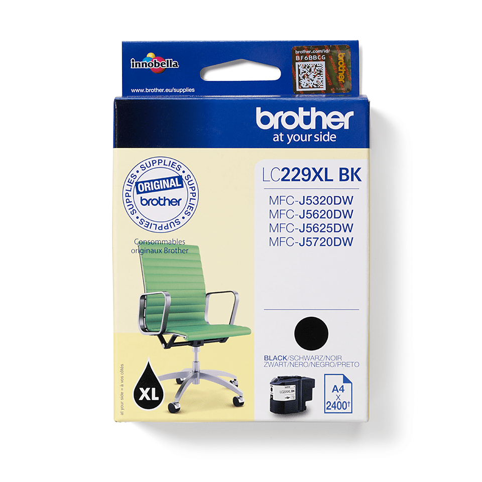 Original Brother LC229XLBK blækpatron – Sort 2