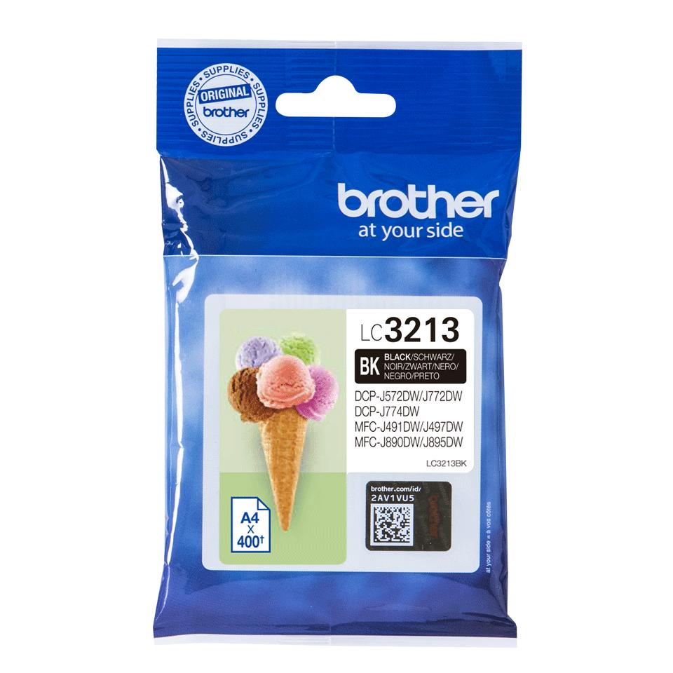 Original Brother LC3213BK sort blækpatron
