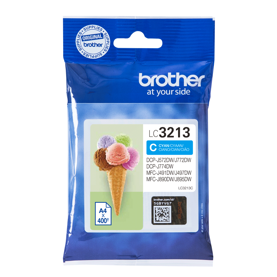 Genuine Brother LC3213C ink cartridge - cyan 1