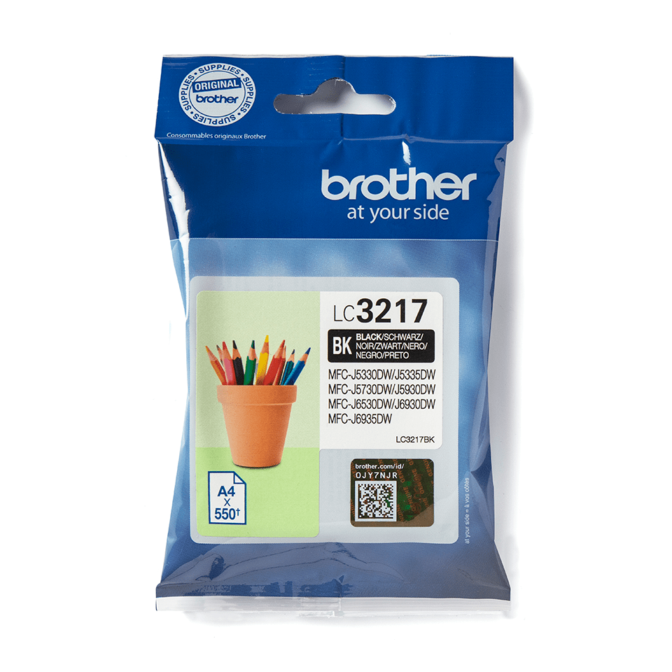 Original Brother LC3217BK blækpatron – sort
