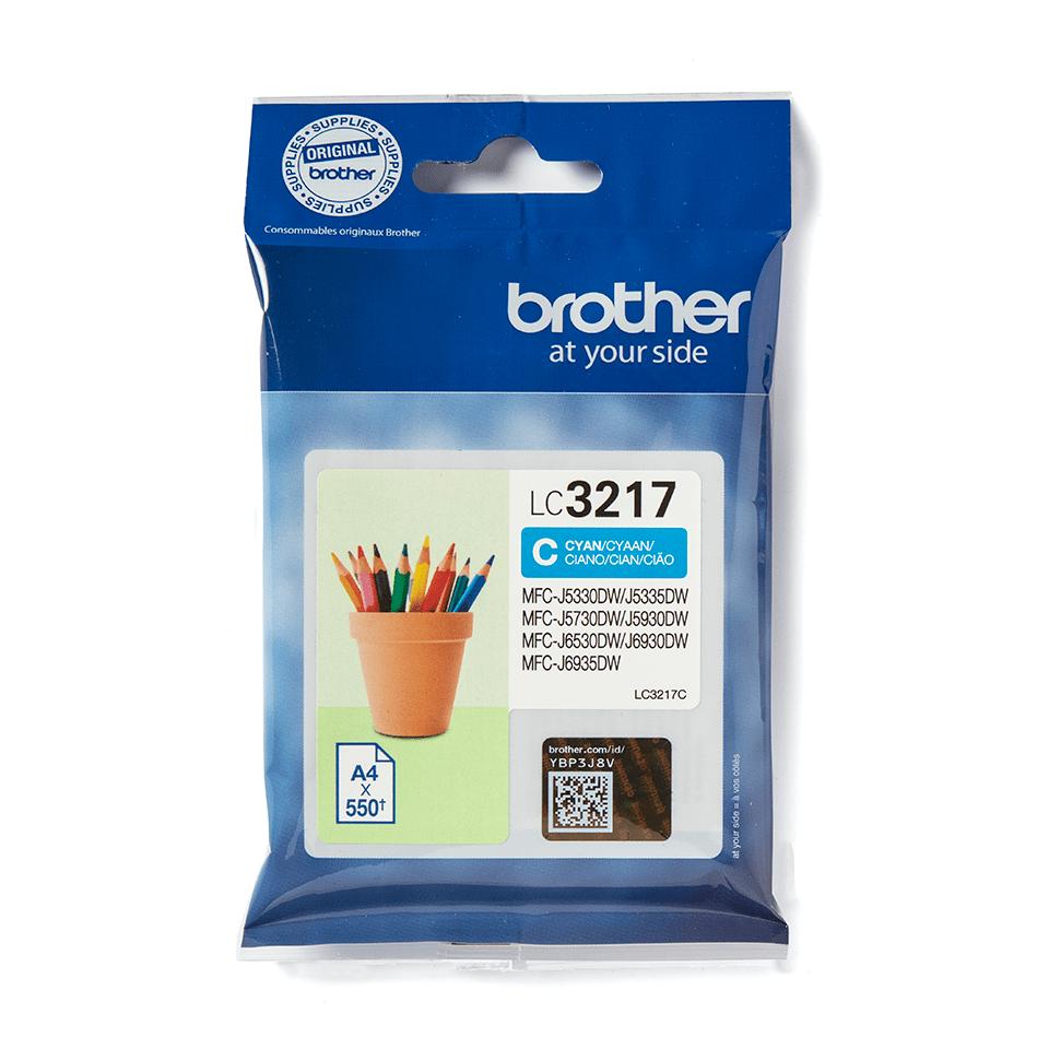Original Brother LC3217C cyan blækpatron