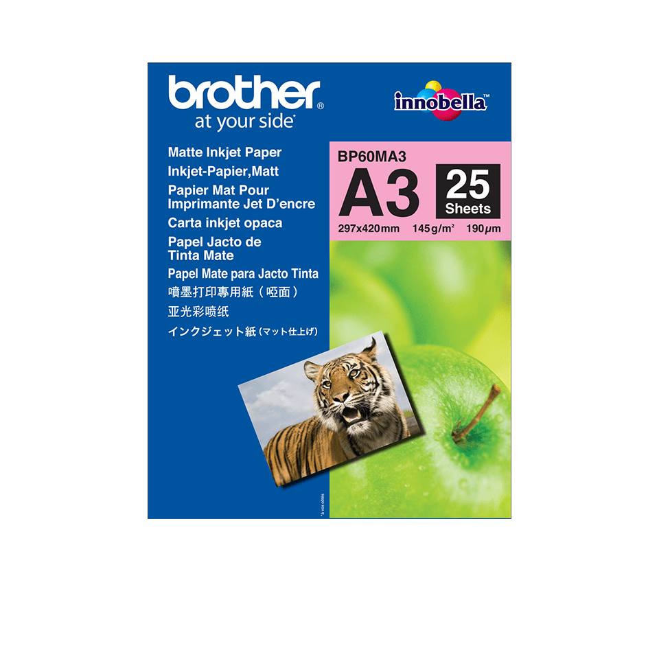 Original Brother BP60MA3 mat A3 inkjetpapir