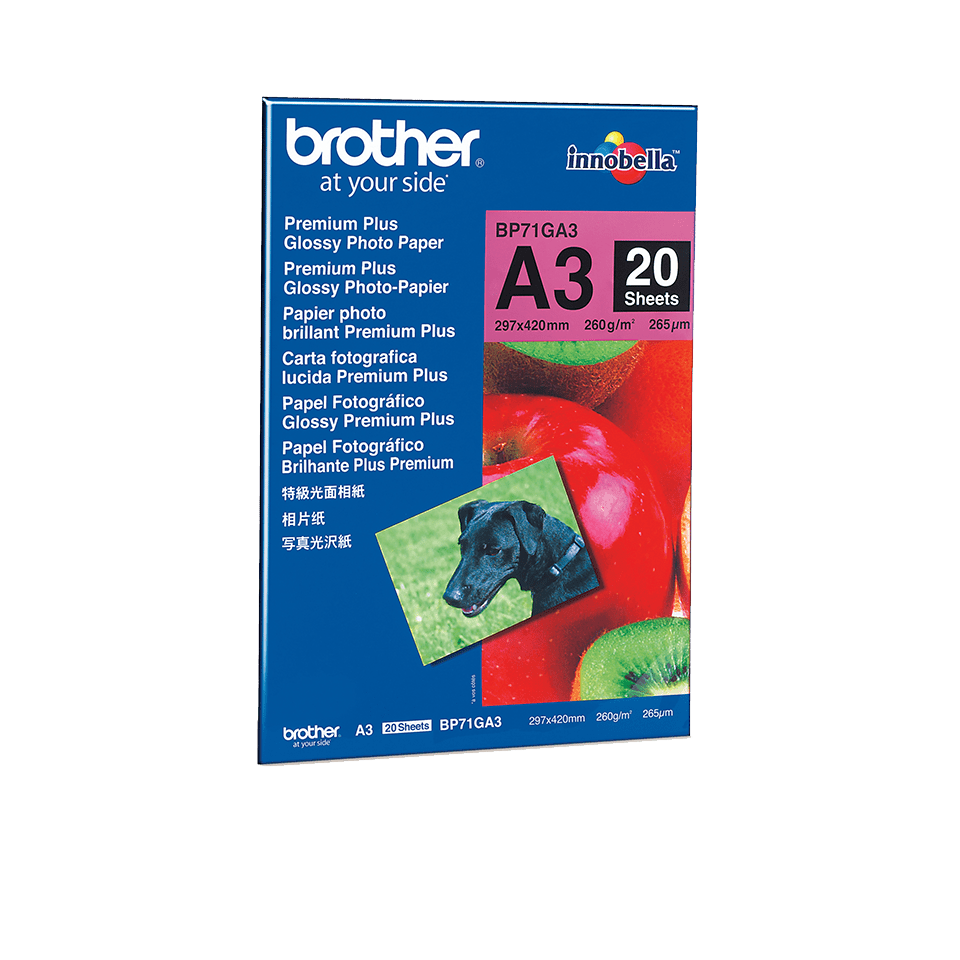 Originalt Brother BP71GA3 – blankt A3 fotopapir