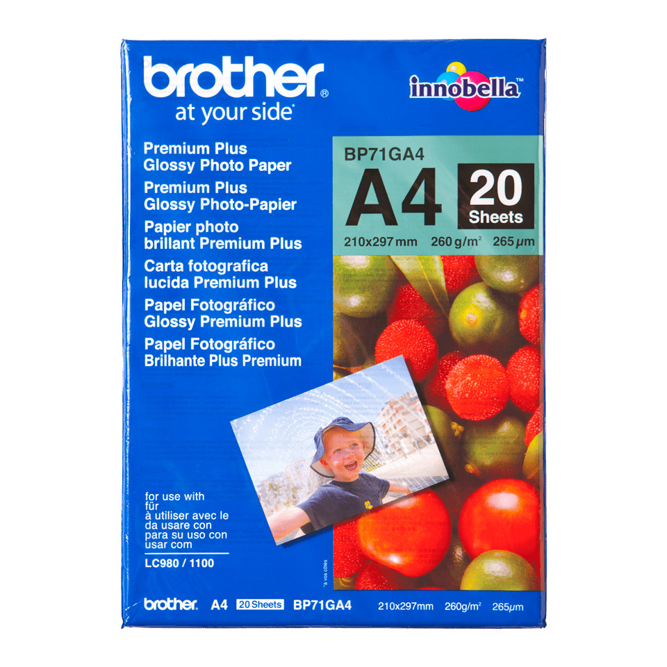 Originalt Brother BP71GA4 – blankt A4 fotopapir
