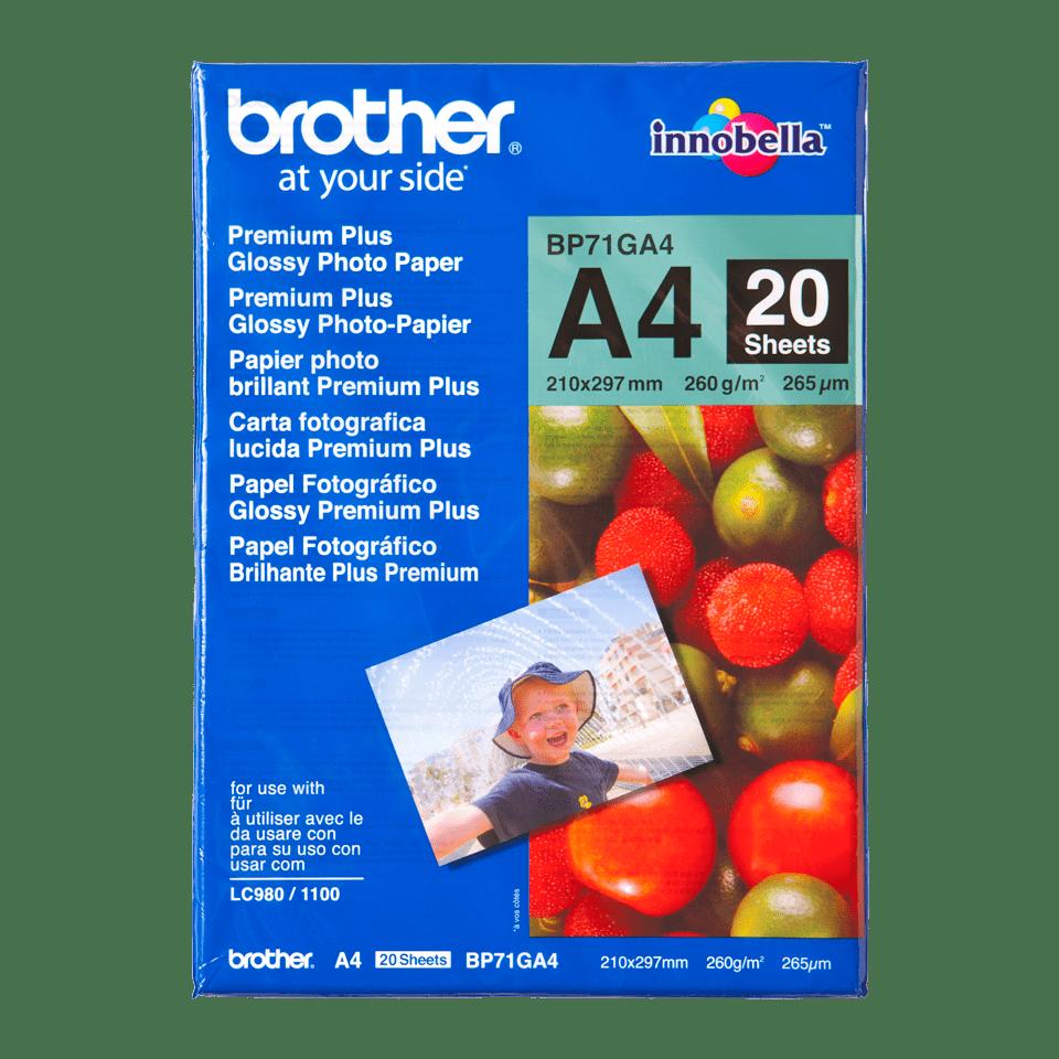 Originalt Brother BP71GA4 – blankt A4 fotopapir