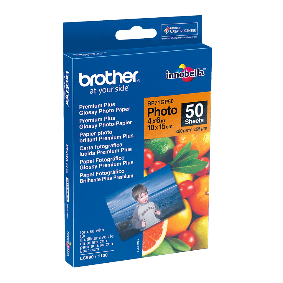 Originalt Brother BP71GP50 - blankt 10 cm x 15 cm inkjet fotopapir