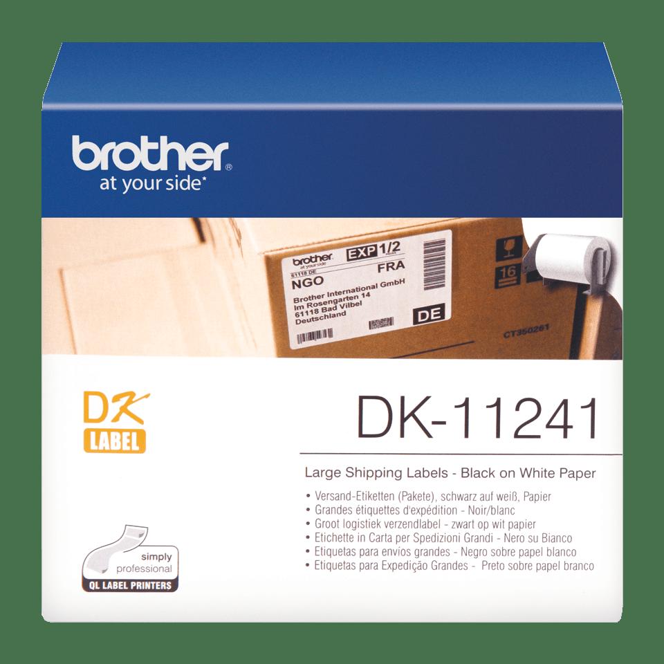 Original Brother DK11241 fragtlabel – sort på hvid, 102 mm x 152 mm