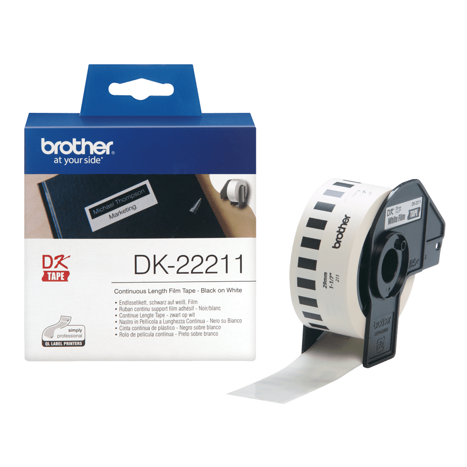 Original Brother DK22211 labelrulle – hvid, 29 mm x 15,24 m 3
